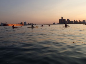 Riverside Kayak Connection now offers a Detroit Moonlight Tour offering panoramic views of the Detroit skyline at sunset and moonrise. (Photo: Riverside Kayak Connection)