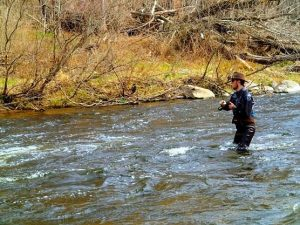 Conserving, protecting and restoring coldwater streams benefit Michigan fishing. (PHOTO CREDIT: Jared Sartini)