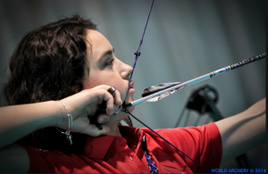MSU's Emily Bee, 20, said she believes archery teaches discipline and patience.