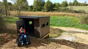 The Sharonville State Game Area in Grass Lake, Mich. has adaptive blinds to help aid those with health challenges get a better view. PHOTO CREDIT: Michigan Operation Freedom Outdoors