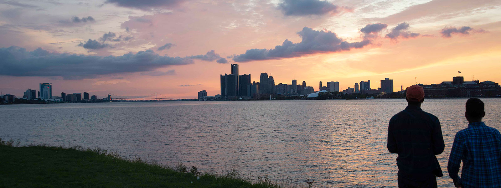 Sunset fishing on Detroit River