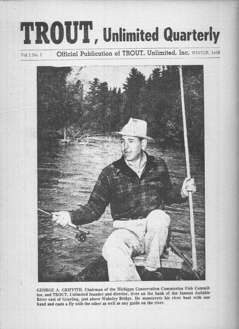 George Griffith on cover of Trout Unlimited's newsletter