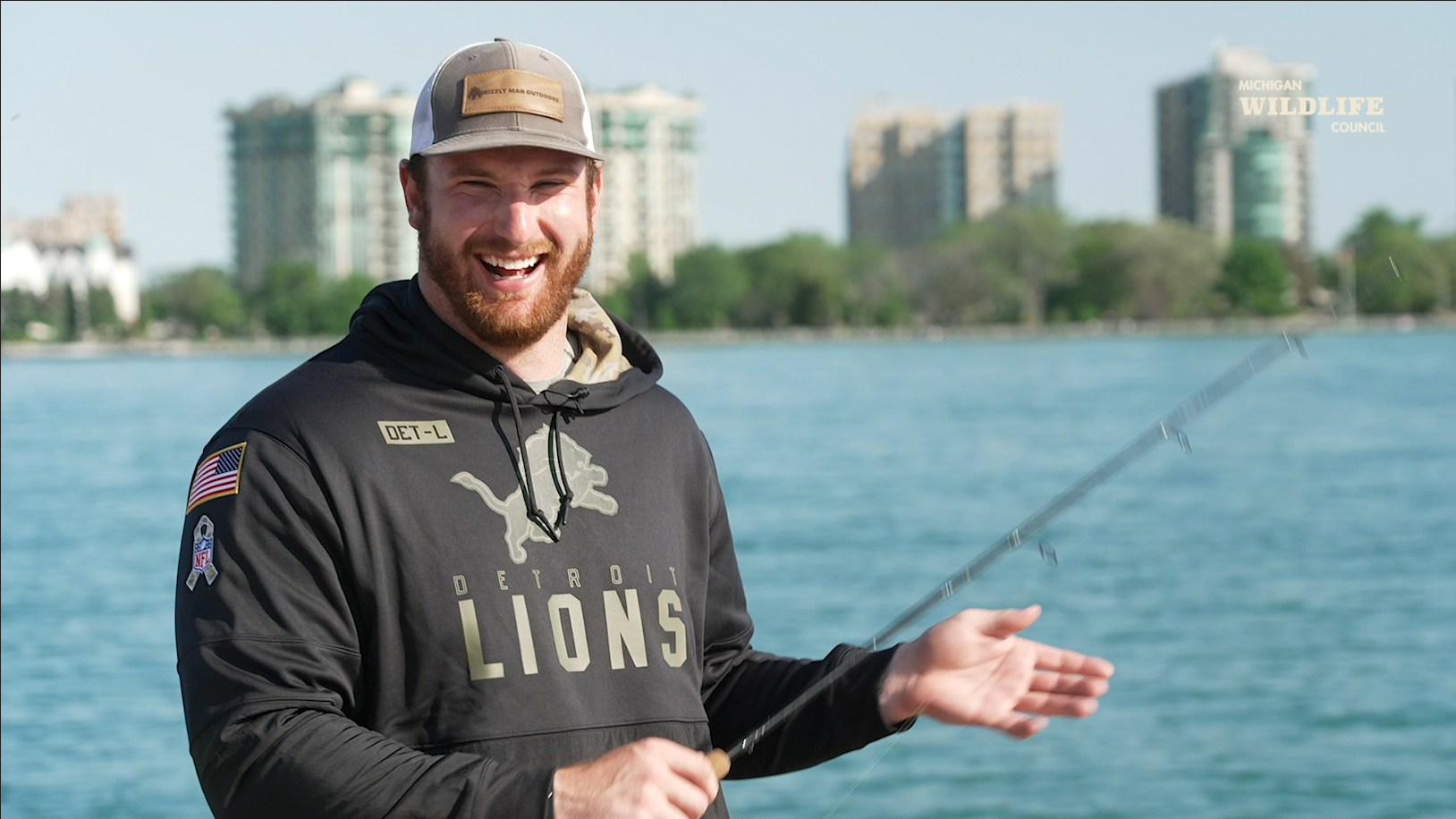 Fishing is at the center of it all for Detroit Lion All-Pro Frank Ragnow